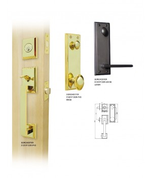 Double Hill Tubular Dorchester Door Handleset  [E1200-DOR]