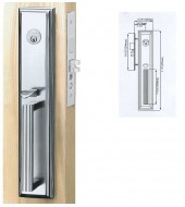 Double Hill Mortise Majestic Door Handleset  [MD9000-MAJ/M]