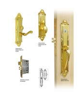 Double Hill Mortise Franchesca Handleset  [MD9000-FRA/M]