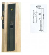 Double Hill Mortise Manchester Handleset [MD9000-MAN/M]